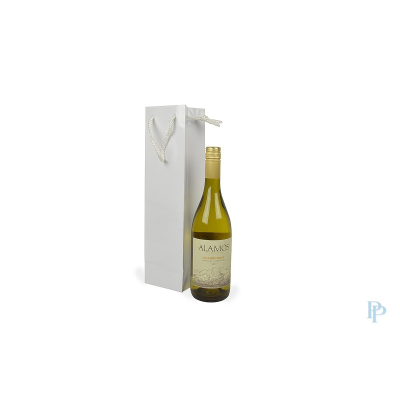 Wijntassen -  Wit Hoogglans - Luxe - Vooraanzicht gebruik