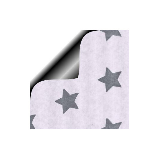 Inpakpapier Feestdagen - Sterren - Zilver op wit kraft (Nr. 6272)