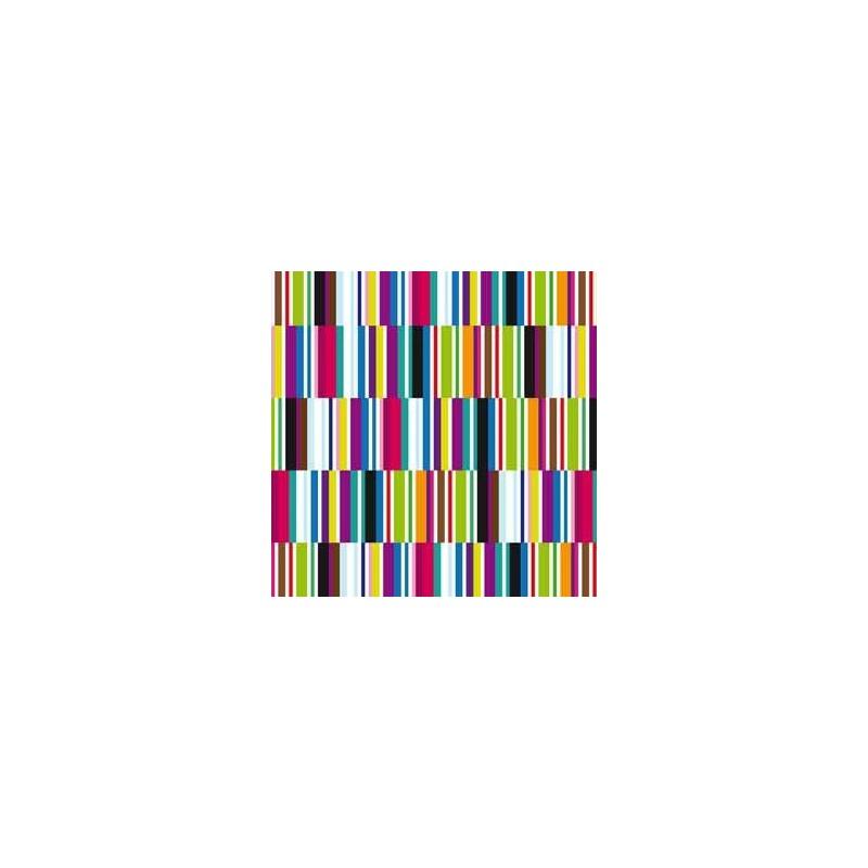 Inpakpapier - Strepen - Multikleur (Nr. 3204) - Close-up