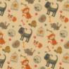 Inpakpapier - Dieren - Multikleur op bruin (Nr. 904) - Close-up