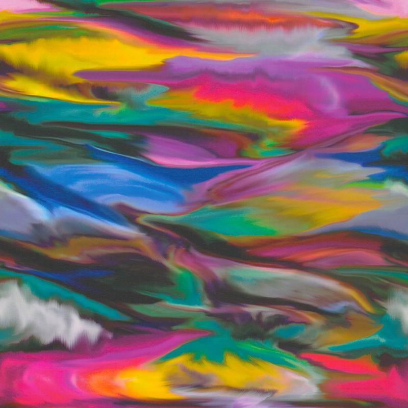 Inpakpapier - Aquarel - Multikleur (Nr. 918) - Close-up