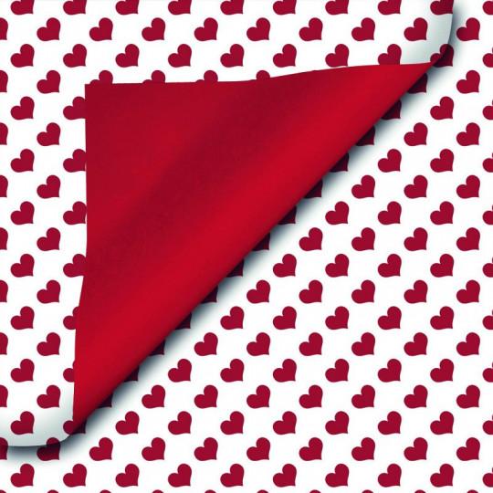Inpakpapier - Valentijn - Rood op wit (Nr. 921)