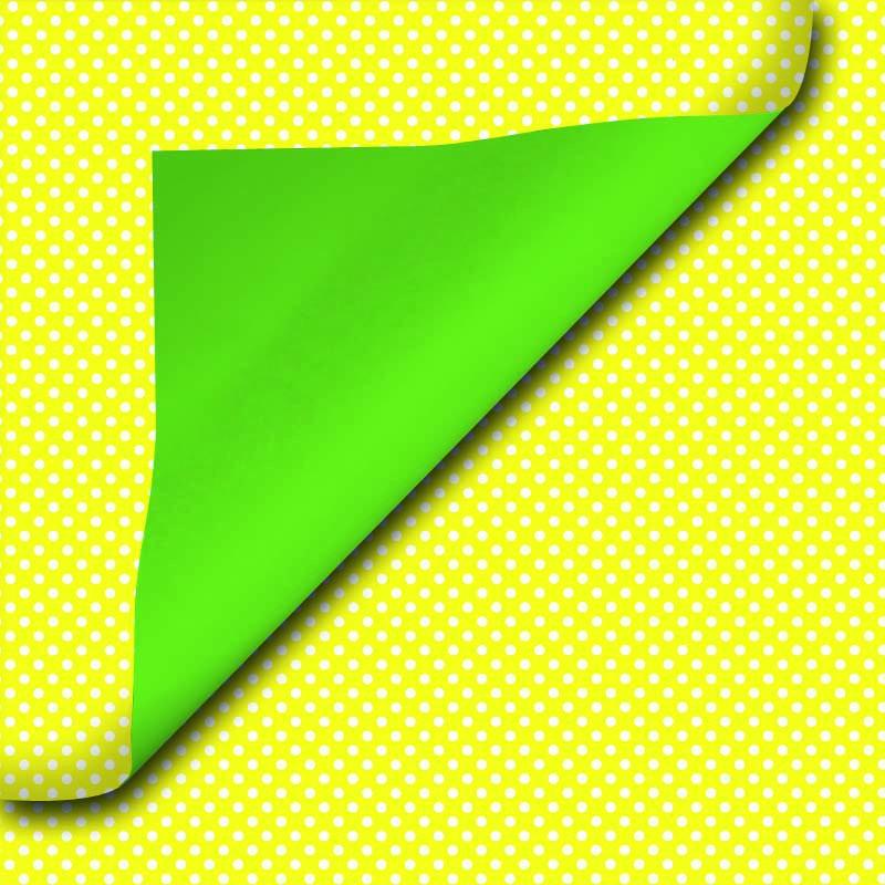 Inpakpapier - Effen - Groen en geel (Nr. Chr1505) - Close-up