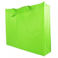 Non Woven Tassen - Groen - Lushandvat - Zijaanzicht