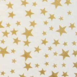 Zijdepapier - Sterren - Goud op wit - Close-up