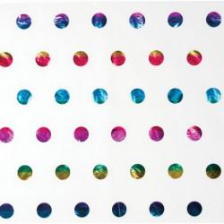 Zijdepapier - Stippen - Regenboogkleuren op wit - Close-up