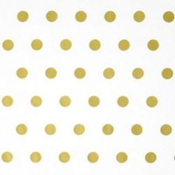 Zijdepapier - Stippen - Goud op wit - Close-up