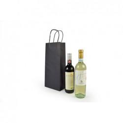 Wijntassen - Zwart - 2 Flessen - Gedraaide handgreep - Gebruik