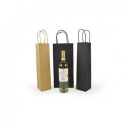Wijntassen - Zwart - 2 Flessen - Gedraaide handgreep - Collectie