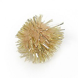 Plakdecoratie - Pom Pom - Goud - Close-up