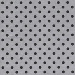 Inpakpapier - Stippen - Zwart op zilver (Nr. 1004) - Close-up