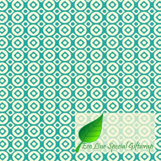 Inpakpapier - Stippen - Wit op groen (Nr. 123)