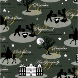 Inpakpapier Sinterklaas - Zwart en groen (Nr. 90041) - Close-up