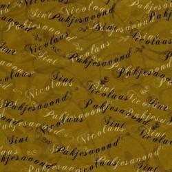 Inpakpapier Sinterklaas - Letters - Zwart op bruin (Nr. 6017) - Close-up