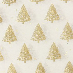 Zijdepapier - Kerstboom - Goud - Close-up