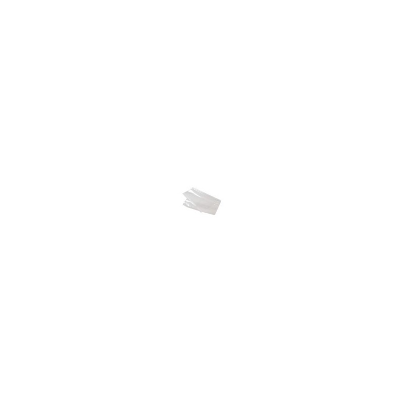 Plastic zakken zijvouw - 70 MU - Transparant - Zijaanzicht