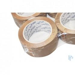 Verpakkingstape - Bruin - Dubbele lijmlaag - Detail in verpakking