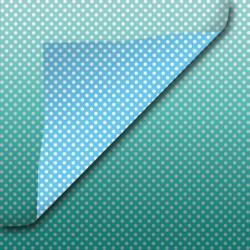 Inpakpapier - Stippen - Zilver op blauw (Zp929)