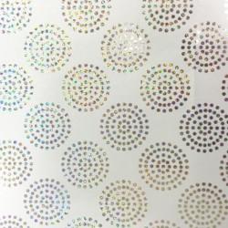 Inpakpapier - Stippen - Zilver op wit (H1601) - Close-up
