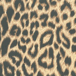 Inpakpapier - Luipaard - Zwart op bruin (Nr. 998) - Close-up