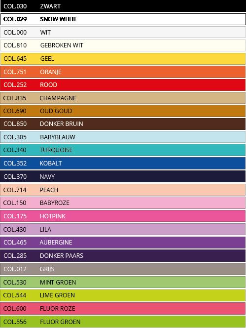 Satijn lint - Kleuren