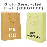 papieren tassen bedrukken bruin gerecycled kraft