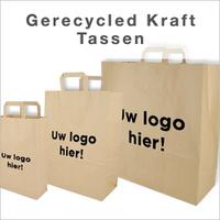 Papieren draagtassen bedrukken Recycle kraft
